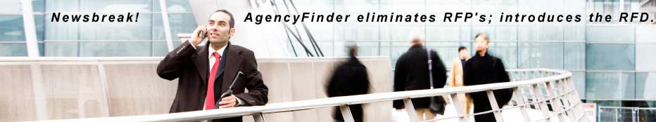 AgencyFinder, the agency search consultant and match-maker replaces an RFP with an RFD
